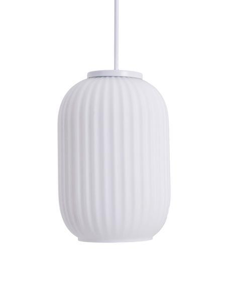Kleine Pendelleuchte Geneva, Lampenschirm: Glas, Weiß, Ø 14 cm x H 120 cm