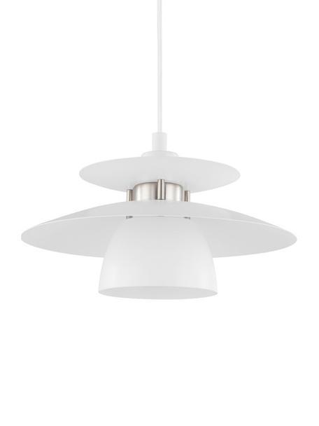 Pendelleuchte Brenda, Lampenschirm: Metall, lackiert, Baldachin: Metall, lackiert, Weiß, Ø 32 x H 110 cm