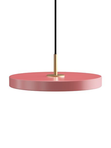 Lampada a sospensione Asteria, Paralume: alluminio rivestito, Baldacchino: polipropilene, Rosa, Ø 31 x Alt. 11 cm