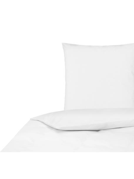 Baumwollperkal-Bettwäsche Elsie in Weiß, Webart: Perkal Fadendichte 200 TC, Weiß, 135 x 200 cm + 1 Kissen 80 x 80 cm