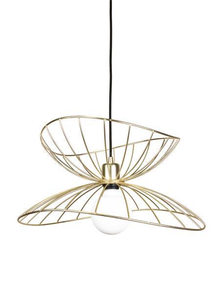 Design Pendelleuchte Ray, Lampenschirm: Metall, vermessingt und g, Baldachin: Metall, lackiert, Messingfarben, gebürstet, Ø 45 x H 25 cm