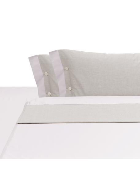 Set lenzuola in raso di cotone Charme, Raso di cotone, Beige, 250 x 290 cm
