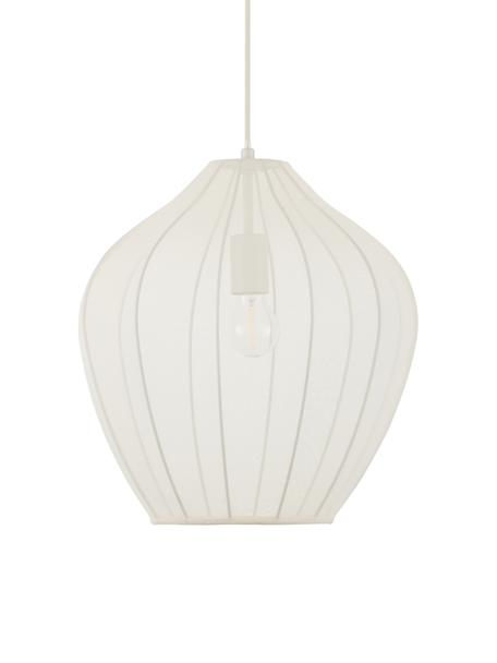 Lámpara de techo Balloon, Anclaje: metal con pintura en polv, Pantalla: tela, Cable: cubierto en tela, Crema, Ø 40 x Al 40 cm