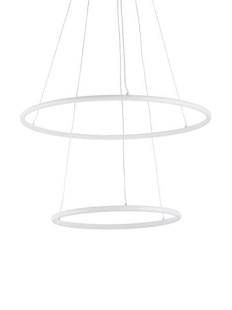 Moderne LED hanglamp Orion, Lampenkap: gecoat metaal, Baldakijn: gecoat metaal, Diffuser: acryl, Wit, Ø 60 x H 90 cm