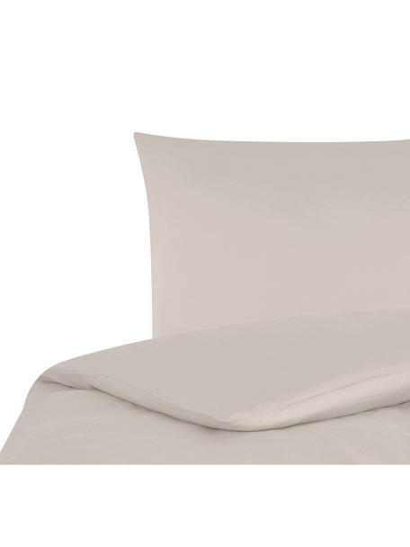 Parure copripiumino in raso di cotone Comfort, Taupe, 155 x 200 cm
