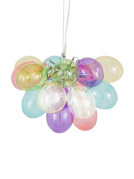 Lámpara de techo de cristal Gross, Fijación: níquel cromado, Anclaje: metal recubierto, Cable: plástico, Multicolor, Ø 30 x Al 20 cm