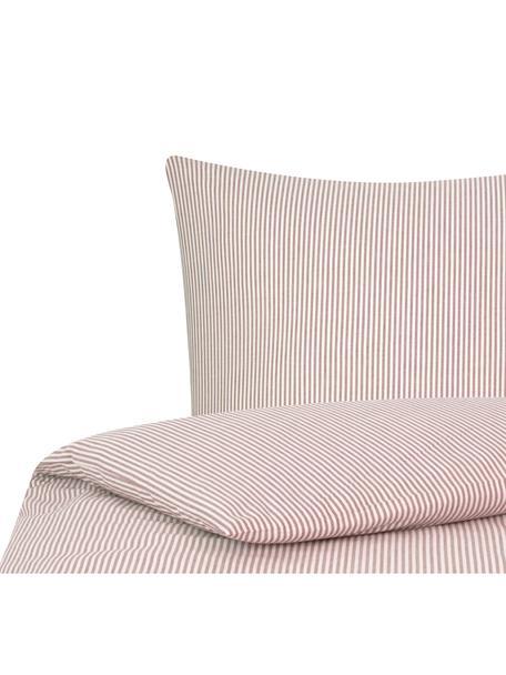 Funda nórdica de algodón Ellie, Blanco, rojo, Cama 90 cm (150 x 200 cm)