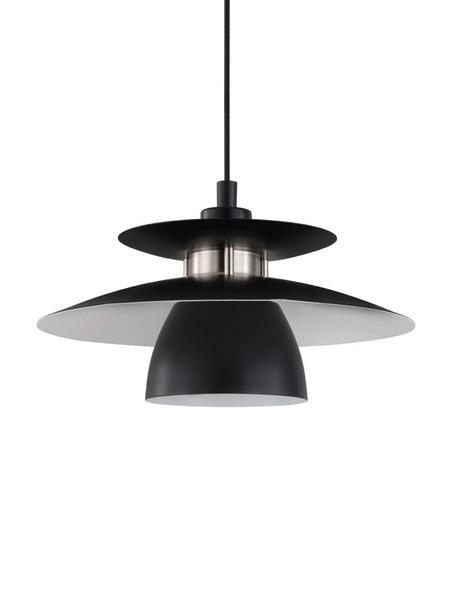 Pendelleuchte Brenda, Lampenschirm: Metall, lackiert, Baldachin: Metall, lackiert, Schwarz, Ø 32 x H 110 cm
