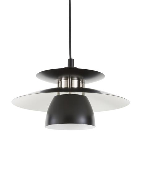 Hanglamp Brenda, Lampenkap: gelakt metaal, Baldakijn: gelakt metaal, Zwart, Ø 32 cm
