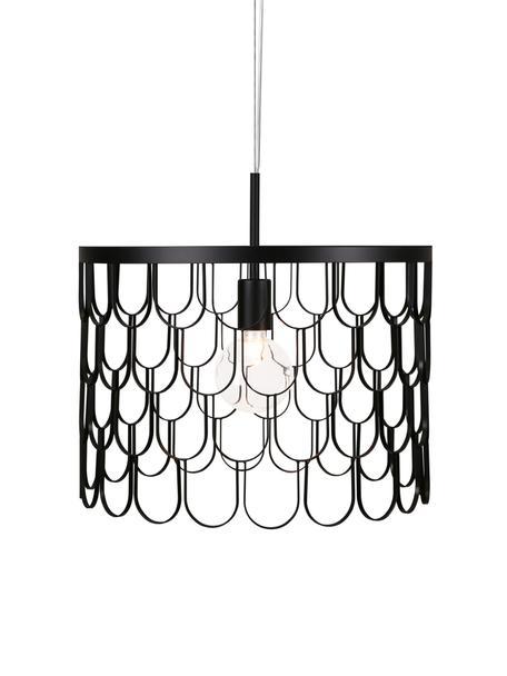 Kleine design hanglamp Gatsby, Zwart, Ø 45 x H 32 cm