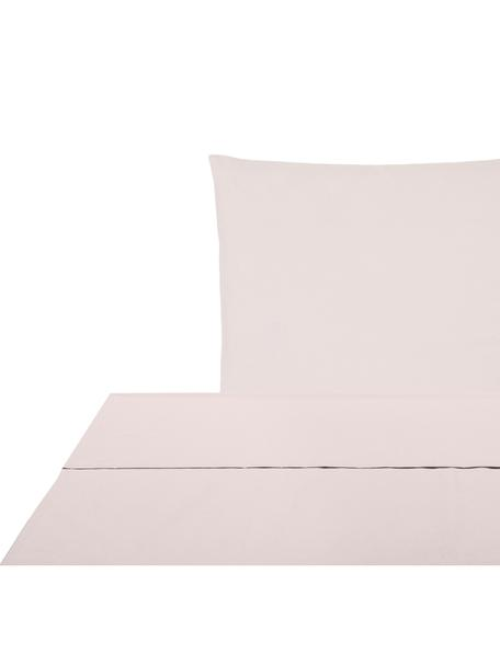 Set lenzuola in percalle Elsie, Tessuto: percalle Densità del filo, Rosa, 150 x 300 cm