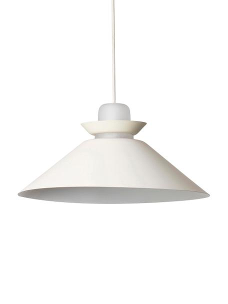 Lampada a sospensione Naos, Paralume: metallo rivestito, Bianco latteo, Ø 40 x Alt. 12 cm