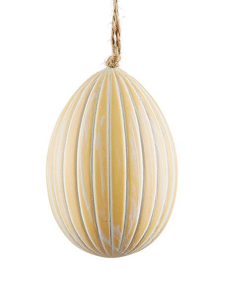 Ciondolo decorativo Essie 3 pz, Materiale sintetico, Giallo, bianco, Ø 5 x Alt. 7 cm