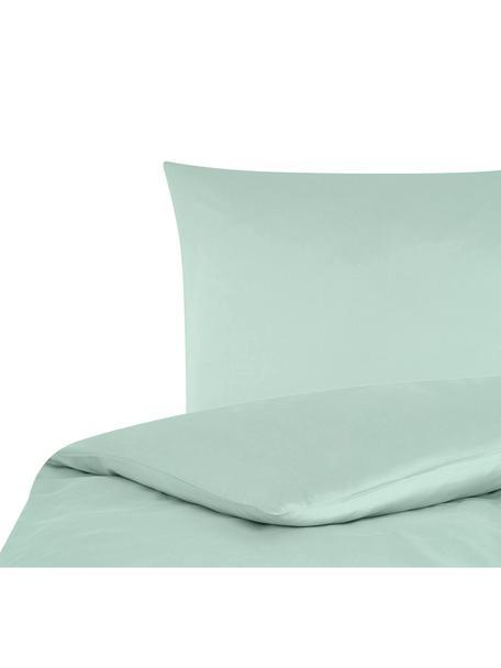 Baumwollsatin-Bettwäsche Comfort in Salbeigrün, Webart: Satin Fadendichte 250 TC,, Salbeigrün, 135 x 200 cm + 1 Kissen 80 x 80 cm