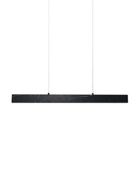 Große LED-Pendelleuchte Pierce in Marmoroptik, Lampenschirm: Metall, foliert, Baldachin: Metall, foliert, Schwarz, marmoriert, 90 x 90 cm