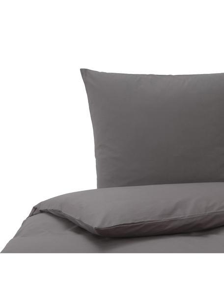 Baumwoll-Bettwäsche Weekend in Anthrazit, 100% Baumwolle Fadendichte 145 TC, Standard Qualität Bettwäsche aus Baumwolle fühlt sich auf der Haut angenehm weich an, nimmt Feuchtigkeit gut auf und eignet sich für Allergiker., Anthrazit, 135 x 200 cm + 1 Kissen 80 x 80 cm