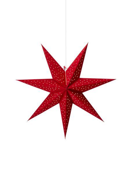 Gwiazda świąteczna z aksamitu Clara, Czerwony, Ø 75 cm