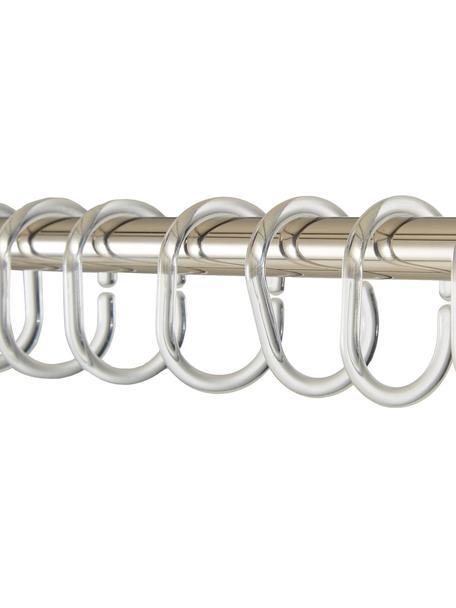 Duschvorhang-Ringe Crystal, 12 Stück, Kunststoff, Transparent, H 7 cm