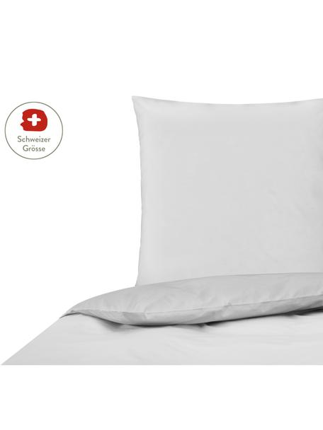 Baumwollperkal-Bettdeckenbezug Elsie in Hellgrau, Webart: Perkal Fadendichte 200 TC, Hellgrau, 160 x 210 cm