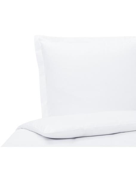 Baumwollsatin-Bettwäsche Premium in Weiß mit Stehsaum, Webart: Satin Fadendichte 400 TC,, Weiß, 135 x 200 cm + 1 Kissen 80 x 80 cm