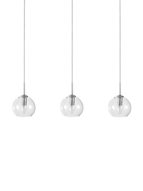 Lámpara de techo grande Hamilton, Estructura: metal cromado, Anclaje: metal cromado, Cable: plástico, Transparente, An 81 x Al 13 cm