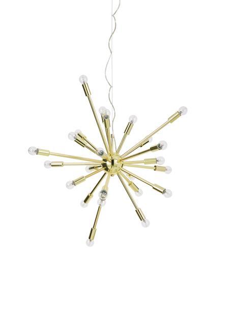 Lámpara de techo grande Spike, Anclaje: metal, Pantalla: metal, Dorado, Ø 90 cm