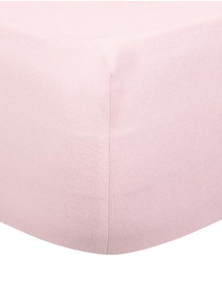 Hoeslaken Biba, flanel, Weeftechniek: flanel, Roze, 140 x 200 cm
