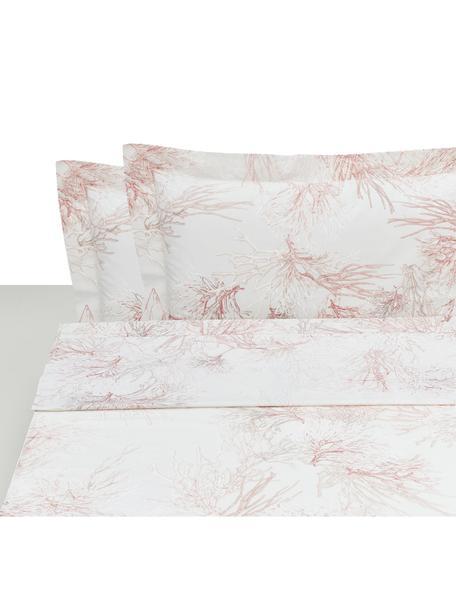 Set lenzuola in percalle Atollo, Tessuto: percalle, Rosa, 250 x 290 cm