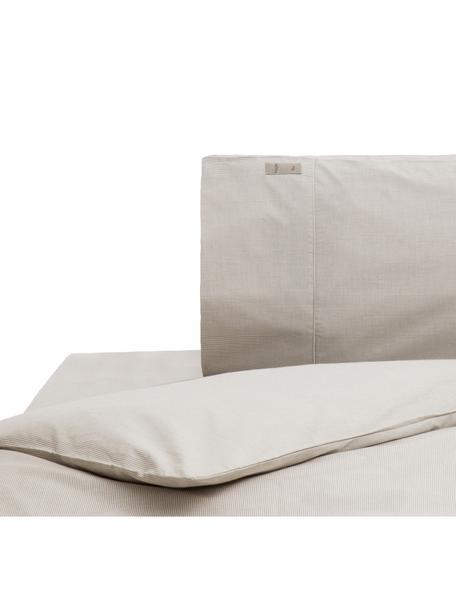 Parure copripiumino in percalle Stripes, Grigio, grigio chiaro, 155 x 260 cm
