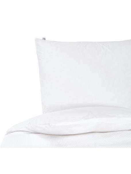 Pościel z bawełny Waffle Living, 100% bawełna Produkt wykonany jest z bawełny, która jest przyjemnie miękka dla skóry, dobrze wchłania wilgoć i jest odpowiednia dla alergików, Biały, 155 x 220 cm