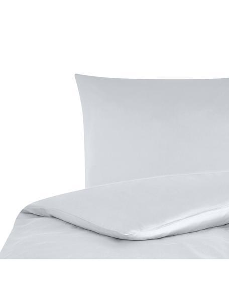 Parure copripiumino in raso di cotone Comfort, Grigio chiaro, 155 x 200 cm