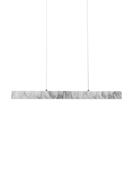 LED-Pendelleuchte Pierce in Marmoroptik, Lampenschirm: Metall, foliert, Baldachin: Metall, foliert, Weiß, marmoriert, 90 x 90 cm