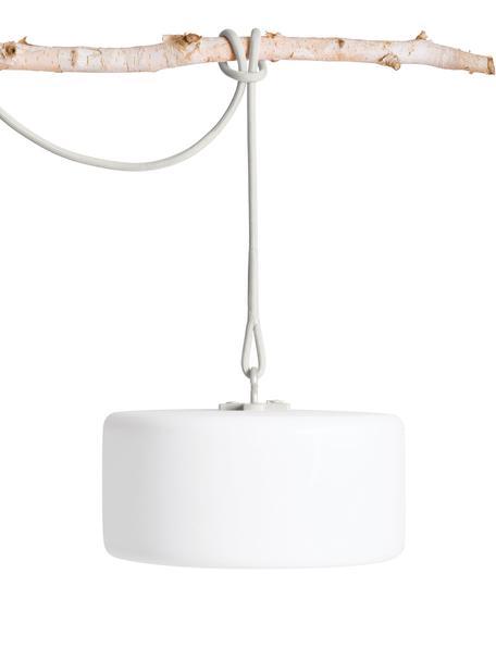 Mobile LED Außenleuchte Thierry, Weiß, Hellgrau, Ø 41 x H 21 cm