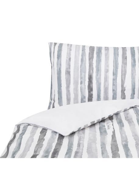 Funda nórdica doble cara Capri, Algodón, Blanco, gris, Cama 150/160 cm (240 x 220 cm)