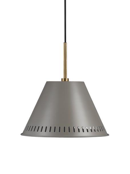 Lampada a sospensione retrò Pine, Paralume: metallo rivestito, Grigio, ottonato, Ø 30 x Alt. 31 cm