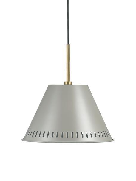 Retro-Pendelleuchte Pine, Lampenschirm: Metall, beschichtet, Dekor: Metall, beschichtet, Grau, Messingfarben, Ø 30 x H 31 cm