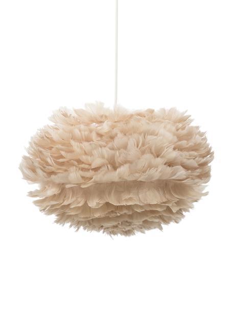 Lampa wisząca z piór EOS, Beżowy, biały, Ø 45 x W 30 cm
