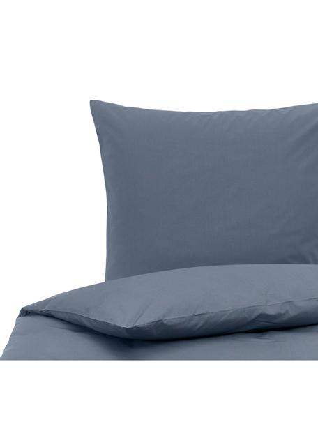 Baumwollperkal-Bettwäsche Elsie in Blau, Webart: Perkal Fadendichte 200 TC, Blau, 135 x 200 cm + 1 Kissen 80 x 80 cm