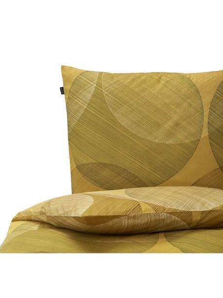 Baumwoll-Bettwäsche Foam, 100% Baumwolle Fadendichte 145 TC, Standard Qualität Bettwäsche aus Baumwolle fühlt sich auf der Haut angenehm weich an, nimmt Feuchtigkeit gut auf und eignet sich für Allergiker, Ockergelb, 135 x 200 cm + 1 Kissen 80 x 80 cm