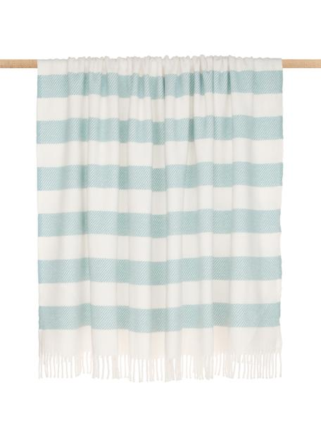 Manta Candy, 50% algodón, 50% acrílico, Azul cielo, blanco crudo, An 140 x L 180 cm