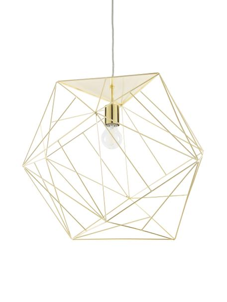 Design Pendelleuchte Cape Town, Lampenschirm: Edelstahl, vermessingt, Baldachin: Metall, Messing, Ø 51 x H 45 cm