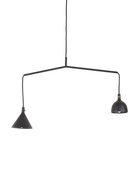 Lampa wisząca z metalu Cast, Czarny, S 66 x W 32 cm
