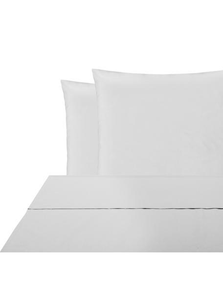 Set lenzuola in percalle Elsie, Tessuto: percalle Densità del filo, Grigio chiaro, 240 x 300 cm