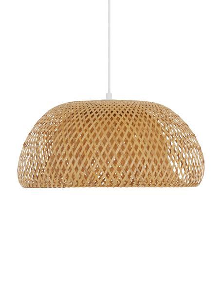 Design Pendelleuchte Eden aus Bambus, Lampenschirm: Bambus, Baldachin: Metall, Bambus, Ø 45 x H 21 cm