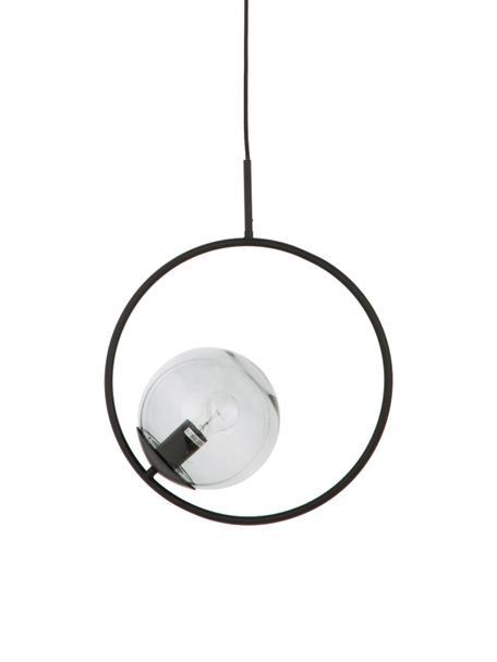 Pendelleuchte Chloe aus Rauchglas, Lampenschirm: Glas, Grau, Schwarz, 40 x 51 cm