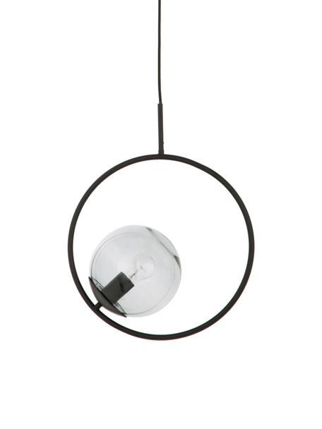 Lampa wisząca ze szkła dymionego Chloe, Szary, czarny, S 40 x W 51 cm