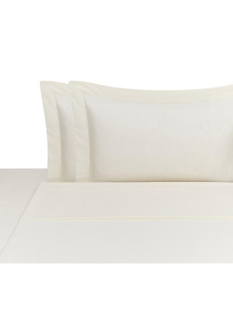 Set lenzuola in raso di cotone Cleo, Beige chiaro, 260 x 295 cm