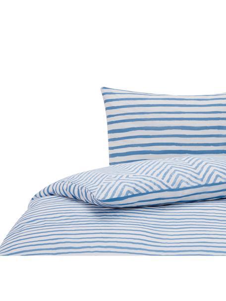 Dekbedovertrek Get Framed, Katoen, Lichtblauw, wit, 140 x 220 cm