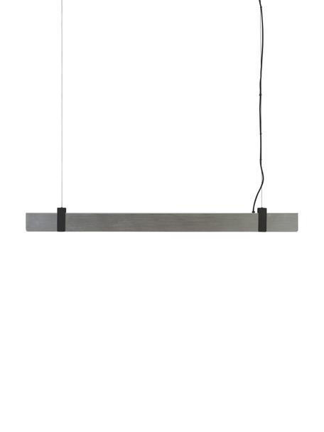 Große Dimmbare LED-Pendelleuchte Lilt, Lampenschirm: Metall, Dekor: Metall, beschichtet, Stahl, gebürstet, 115 x 10 cm
