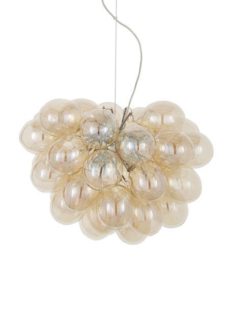 Lámpara de techo Gross, Fijación: níquel cromado, Anclaje: níquel cromado, Cable: plástico, Ámbar, Ø 50 cm